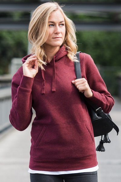 LADIES' AUTHENTIC MELANGE HOODED  SWEAT