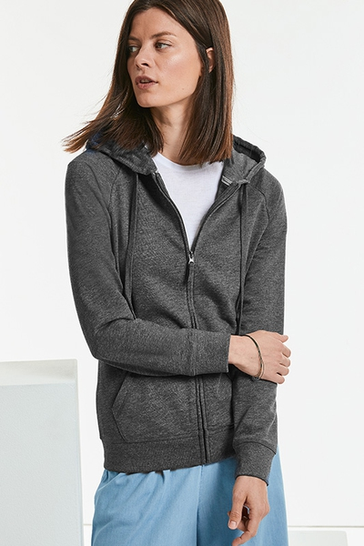 LADIES ZIPPED HD HOODED SWEAT