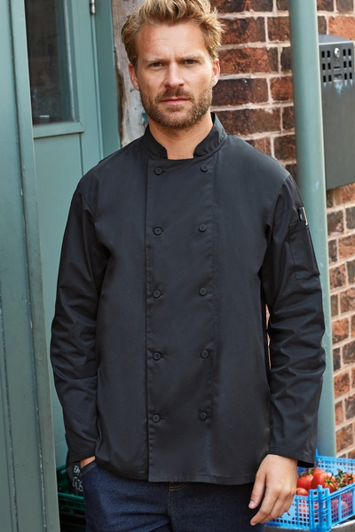 CHEF'S LONG SLEEVE COOLCHECKER® JACKET WITH MESH BACK PANEL