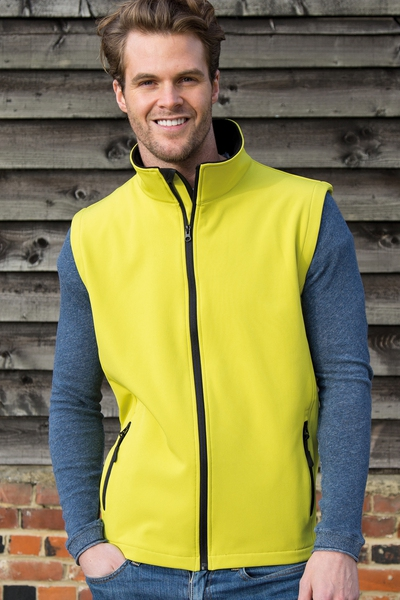MENS PRINTABLE CORE SOFTSHELL VEST