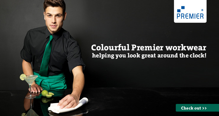Colourful Premier workwear and accessories
