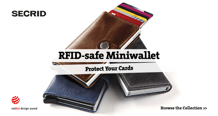 RFID-safe Miniwallet. Protect your cards.